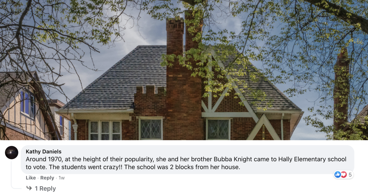 Photo of the former Detroit home of Gladys Knight.