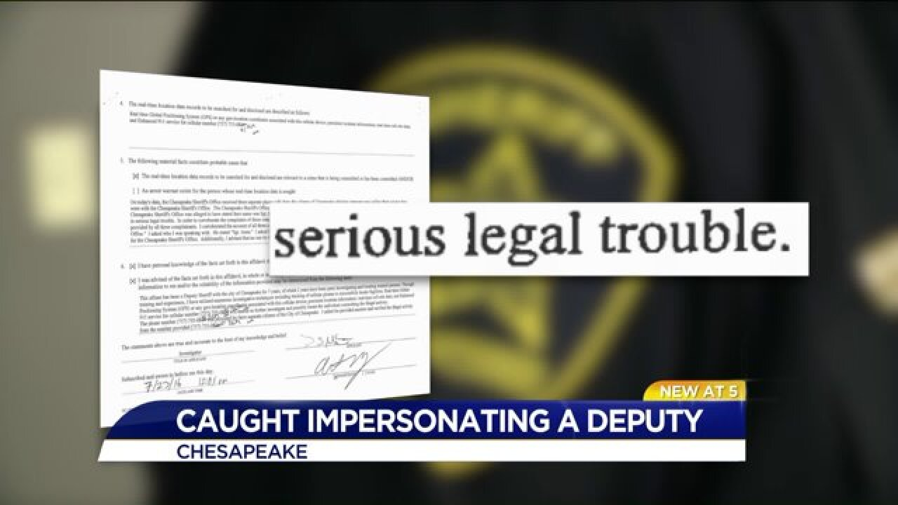 Only on News 3: Chesapeake deputies confront man accused of impersonatingofficers