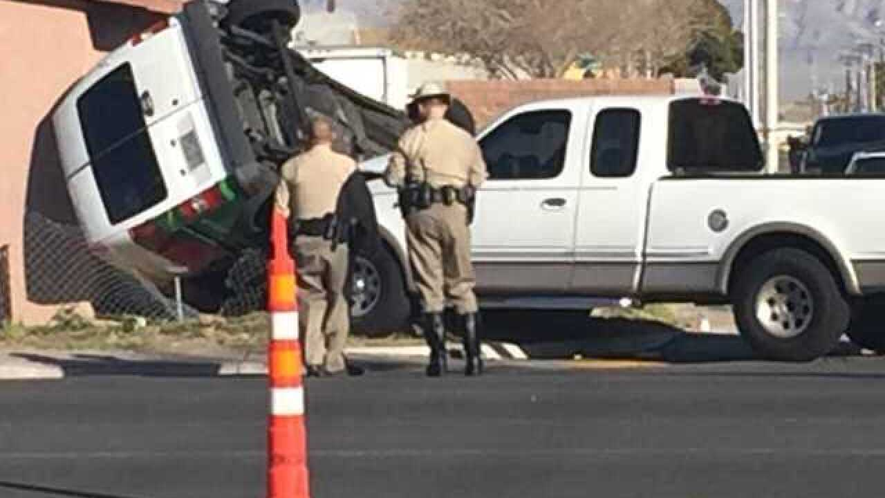 Crash sends van into home near Washington Avenue