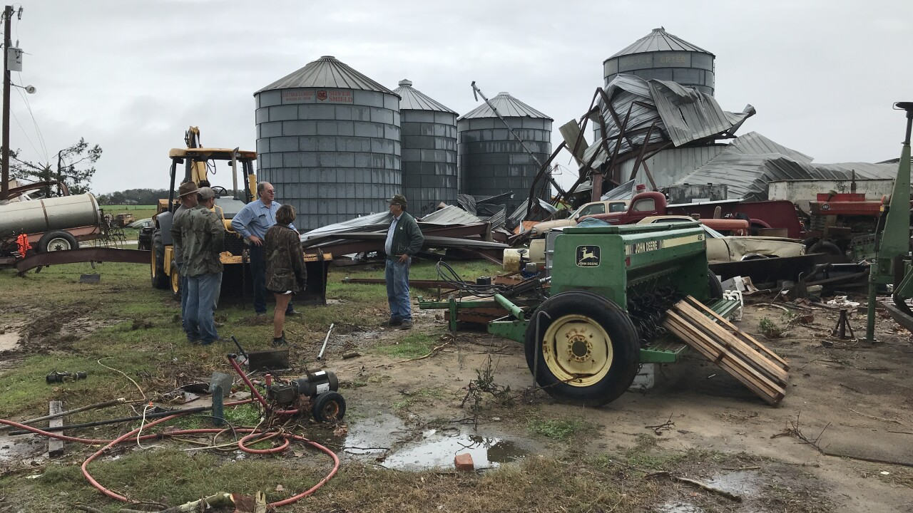 Two barns destroyed in Colquitt following 'potential tornado'
