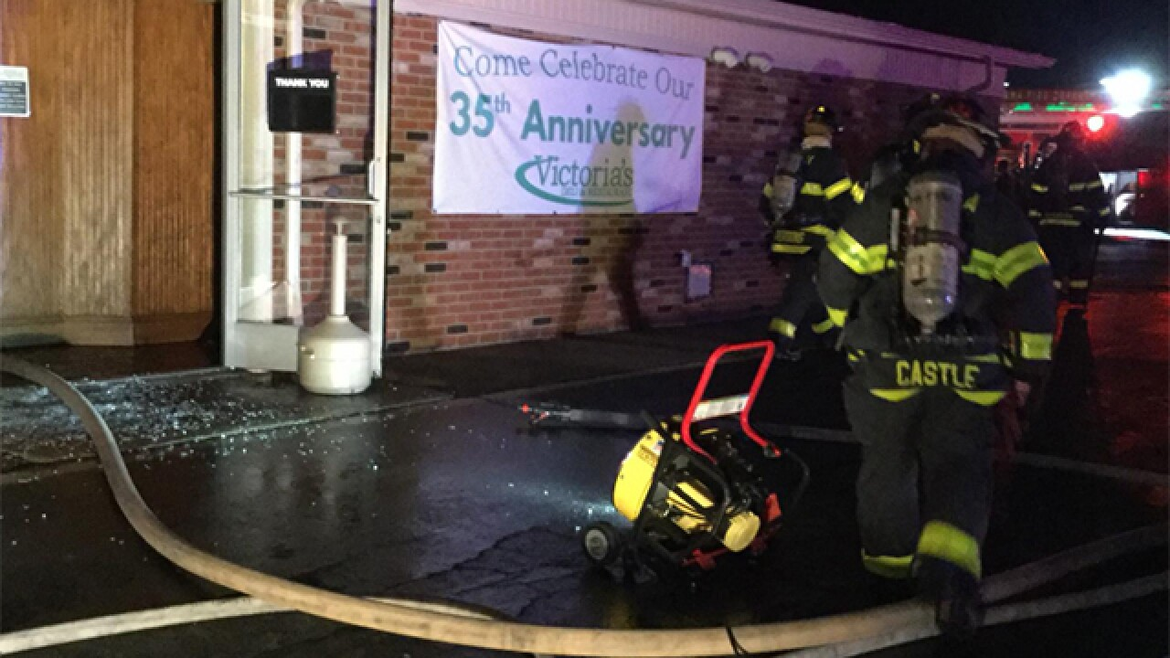 Firefighters investigate cause of fire at Victoria's Deli and Restaurant in Parma