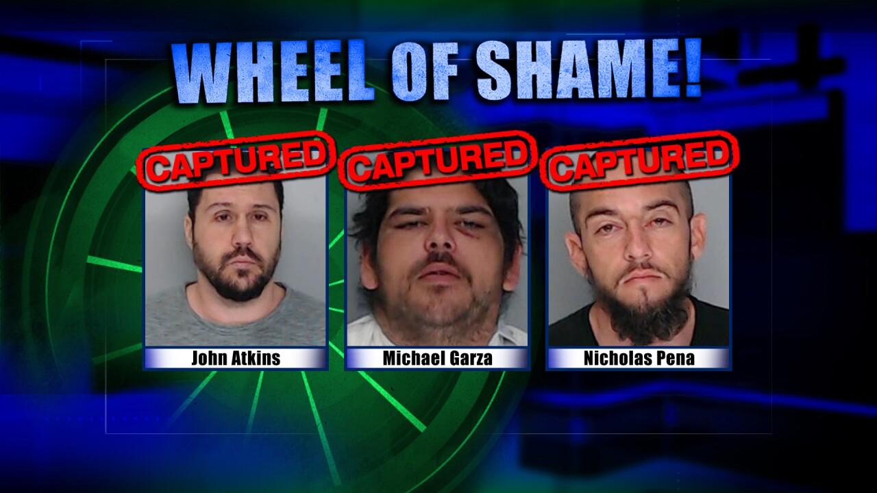 Wheel Of Shame Arrests: John Atkins, Michael Garza & Nicholas Pena