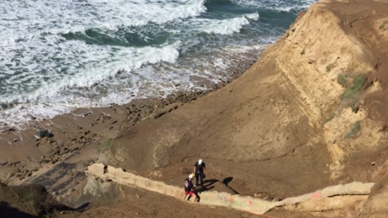 Man yelling 'Trump' rescued from Sunset Cliffs