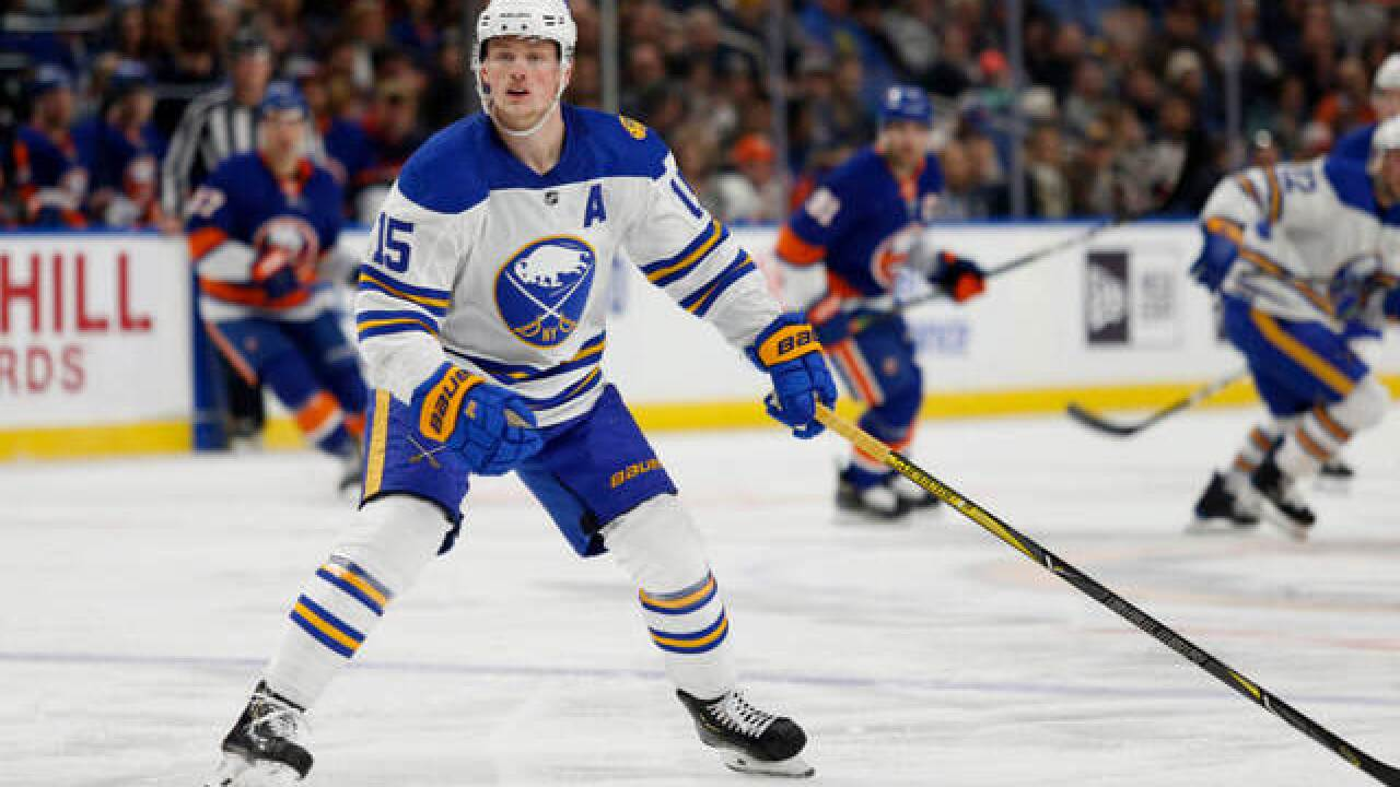 Sabres forward Jack Eichel diagnosed with high-ankle sprain, out indefinitely