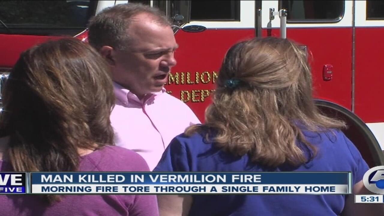 Man killed in Vermilion fire identified