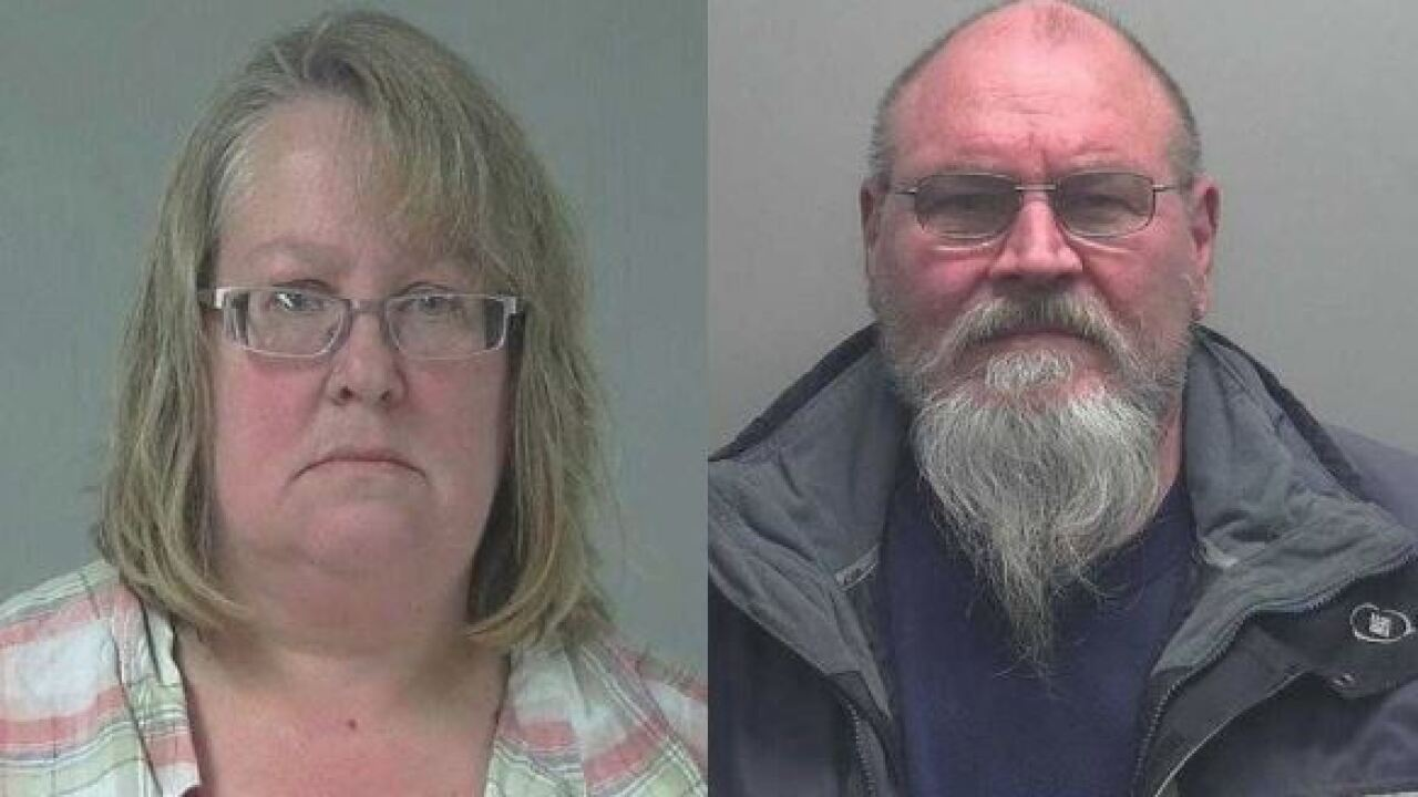 Mug shots of man and woman accused of mistreatment of animals