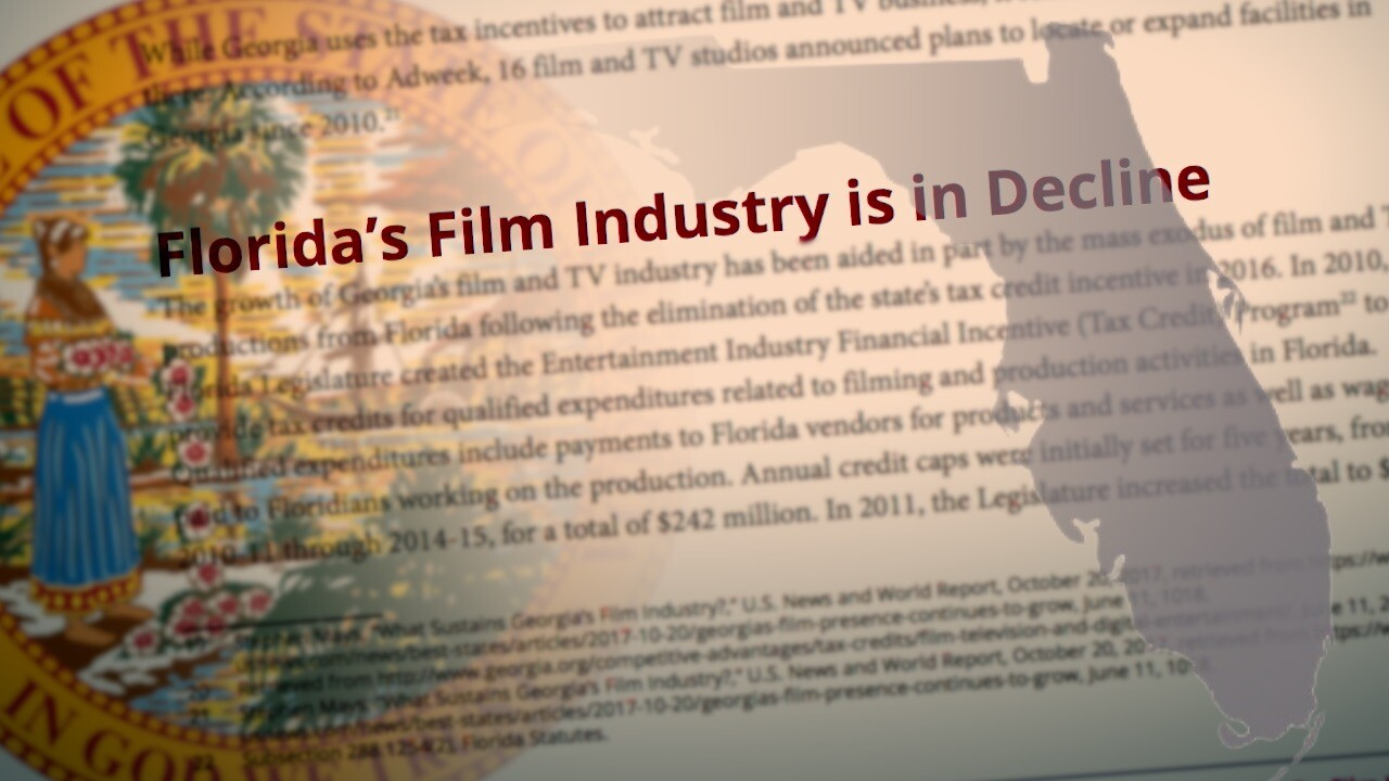 Florida's Film Industry is in decline