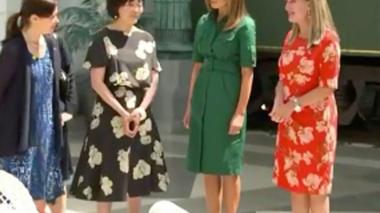 Melania to take Japan's first lady to Whitehall