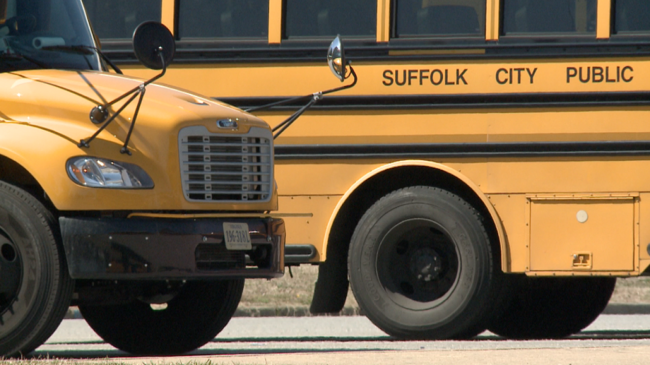 Suffolk Schools announce possible bus delays Friday due to driver absences