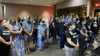 Sunrise Hospital held an emotional ceremony on the third anniversary to honor and remember the victims and survivors of the 1 October shooting.
