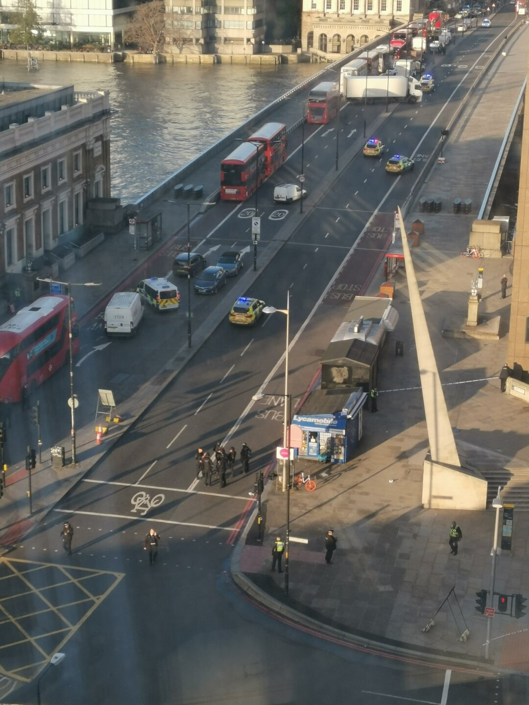Photos: Suspect killed and multiple people injured in 'terror incident' near LondonBridge