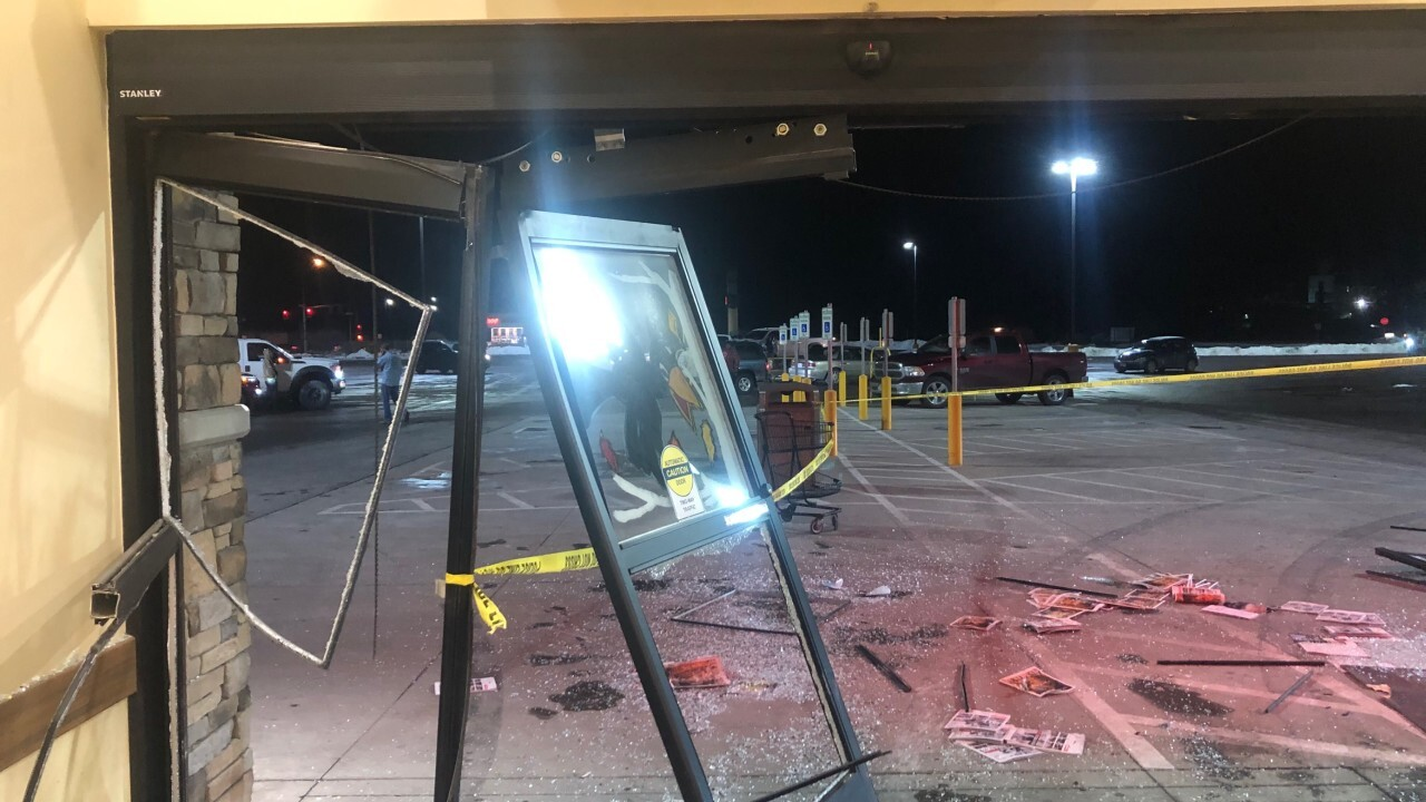 A man drove through a grocery store in Columbia Falls