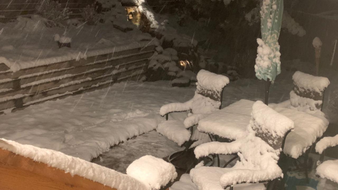 Oct 23, 2019 snow