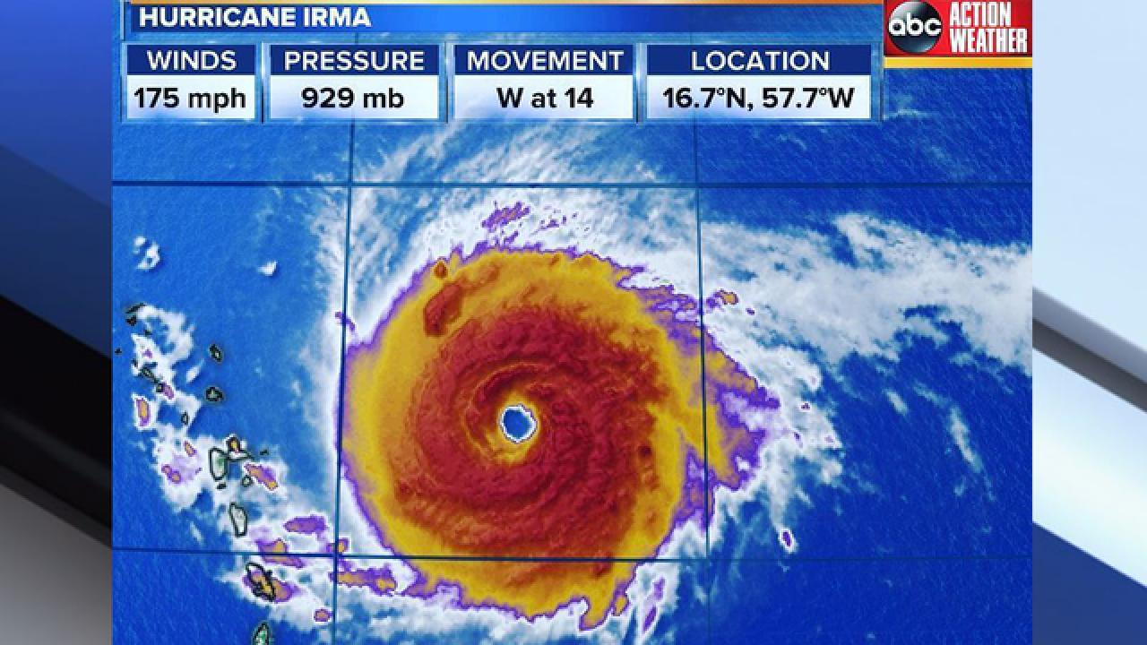 Irma updates from Meteorologist Denis Phillips