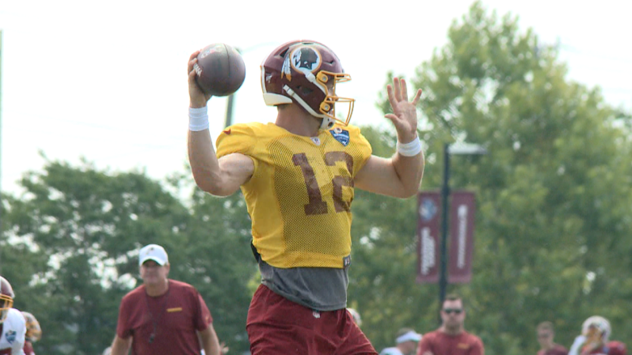 Redskins quarterback Colt McCoy's return from injury might not be until 'two or three weeks into the season'