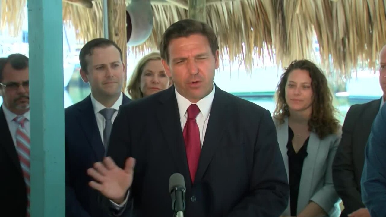 Florida Gov. Ron DeSantis holds a news conference in St. Petersburg on May 3, 2021.jpg