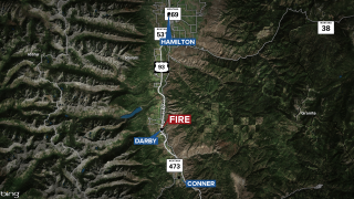 Darby Fire Map