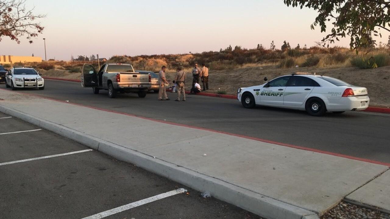 Patrol car hit near Pearl and Haley Street