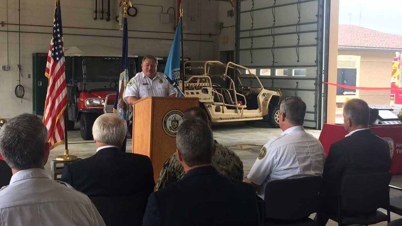 Virginia Beach firefighters work with the Navy to reduce emergency responsetimes