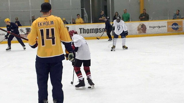 Photos: Mattias Ekholm Hosts 2nd Hockey Clinic For Make-A-Wish