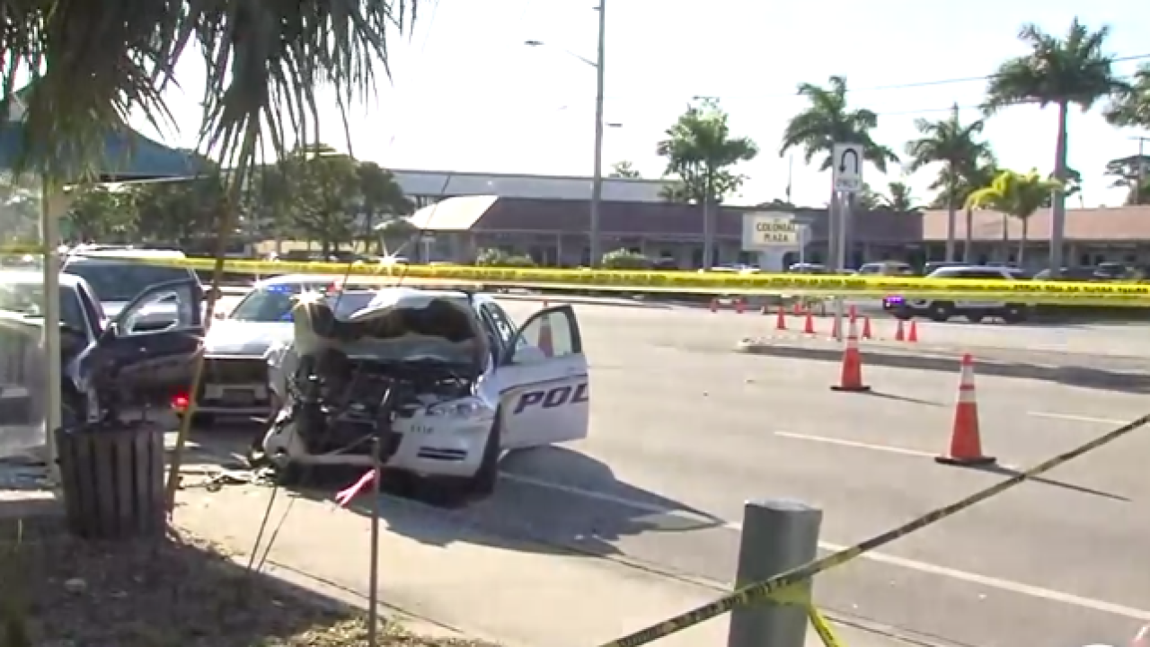 Jupiter police officer involved in crash with suspect