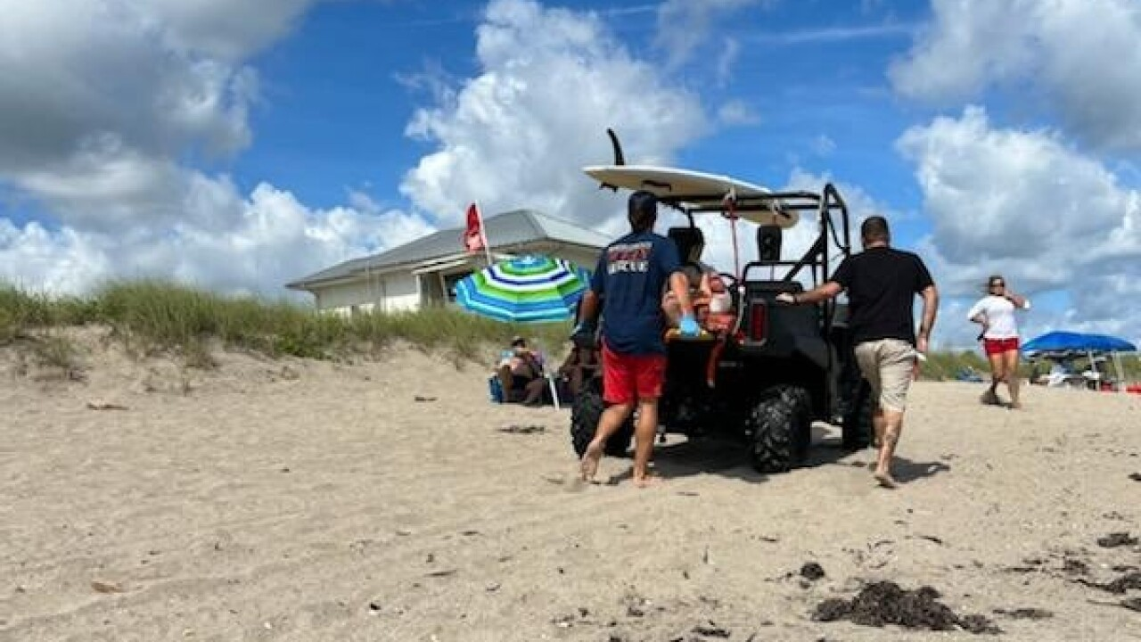 Jensen Beach Park will remain closed today after a person was bitten by a shark in the guarded swimming area.