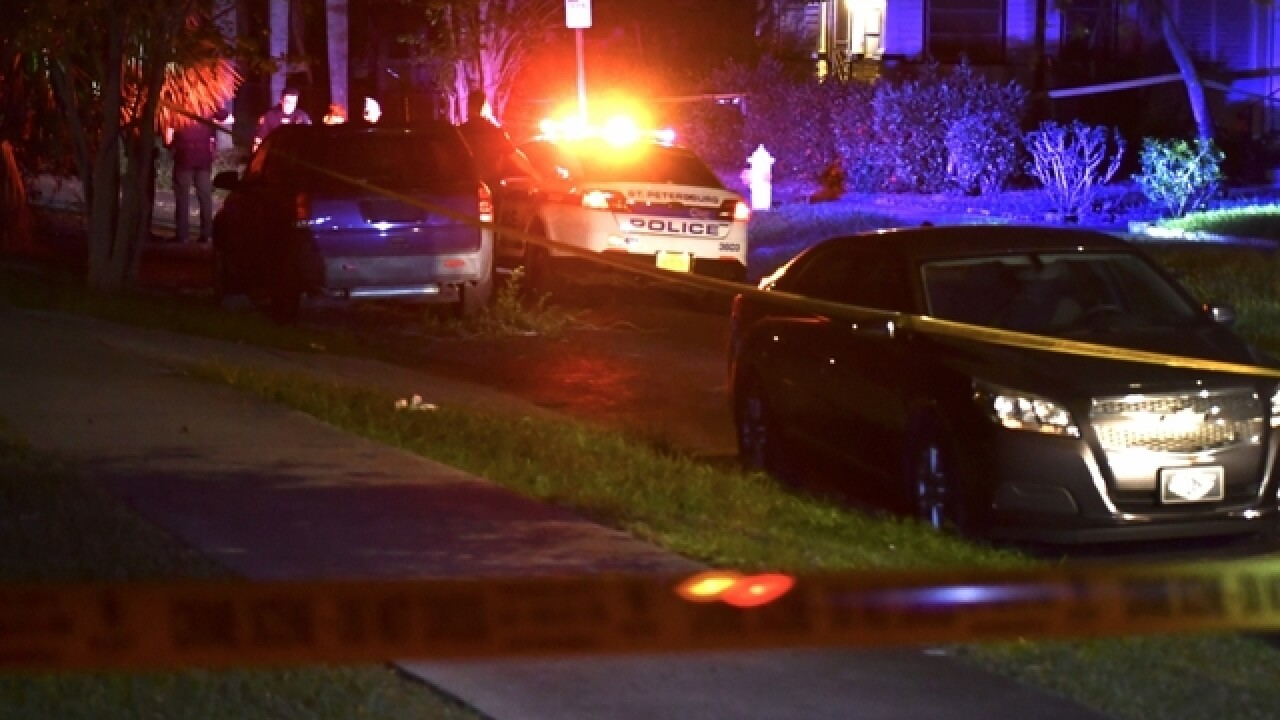 Woman found shot in backyard of St. Pete home