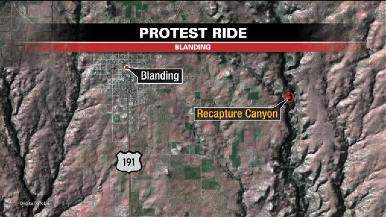 Protesters ride ATVs through canyon despite BLM ban