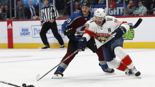 Huberdeau scores early in OT, Panthers rally to beat Avs 4-3