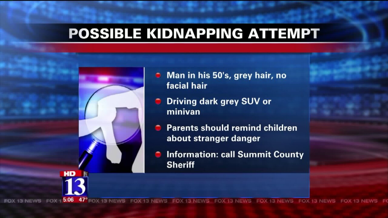 Summit County Sheriff's Office warns parents of possible dangerousman