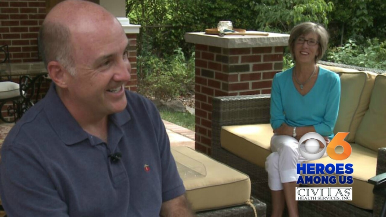 Hero husband goes the distance for wife who beat breastcancer