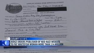 Publisher ordered to pay $14 million in Whitefish neo-Nazi case