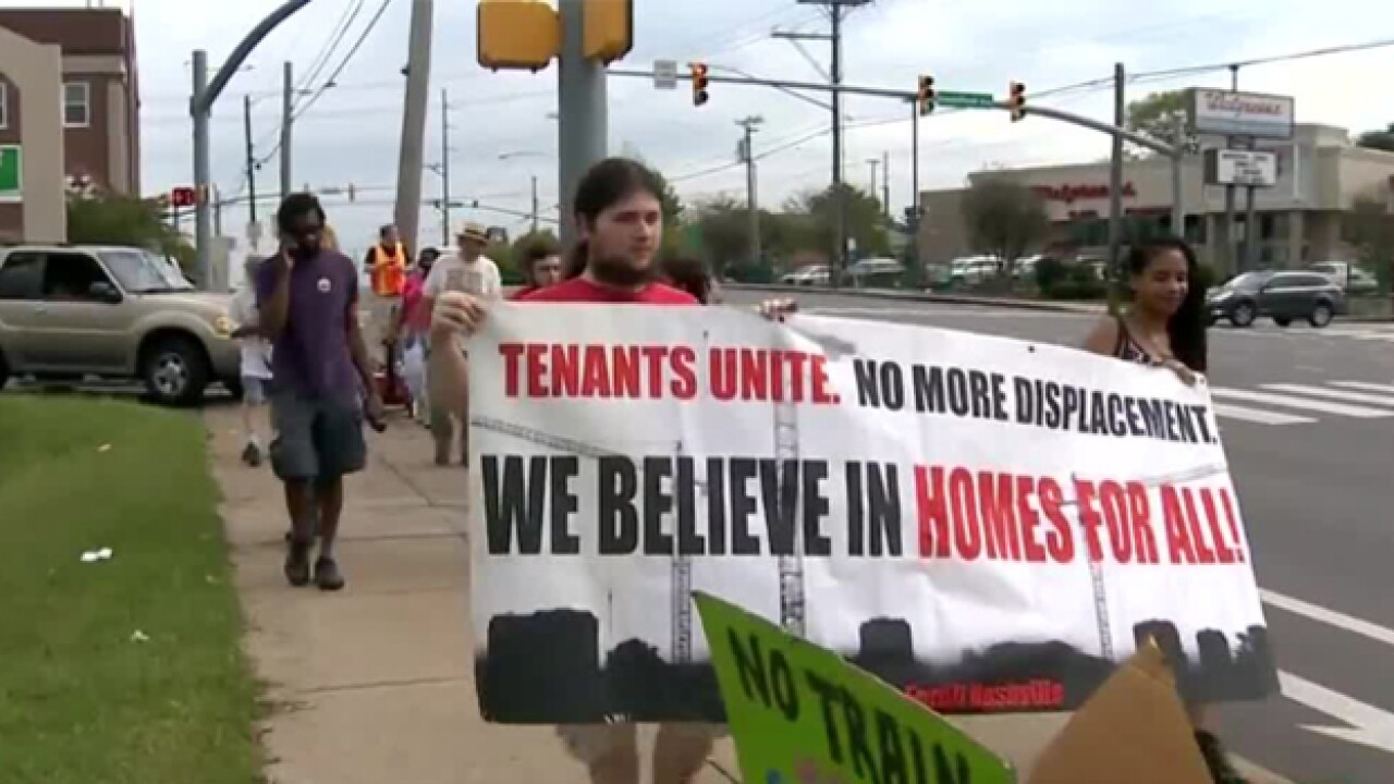 Activists Protest Transit Plan, Hope For Affordable Housing Instead