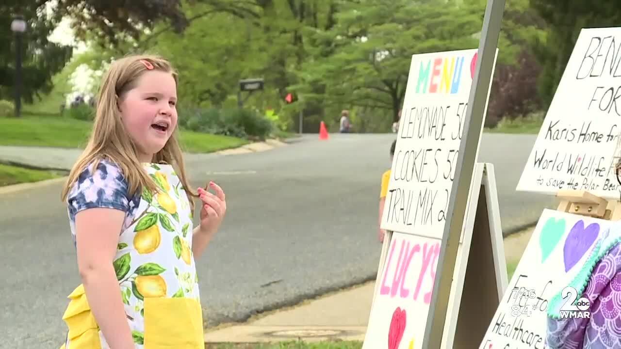 Local 8-year-old girl sells lemonade