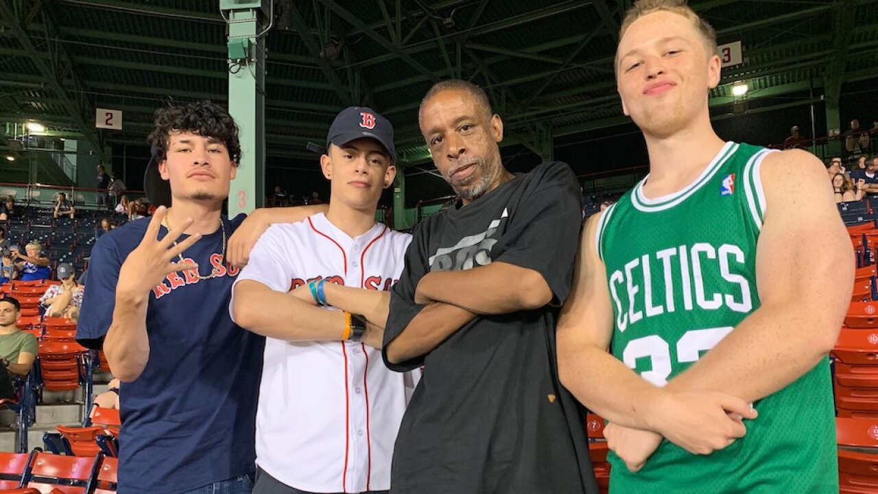 Red Sox fans give extra ticket to homeless man