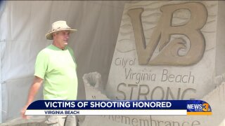 Retired firefighter-turned-sand sculptor creates sand memorial to honor Virginia Beach mass shootingvictims