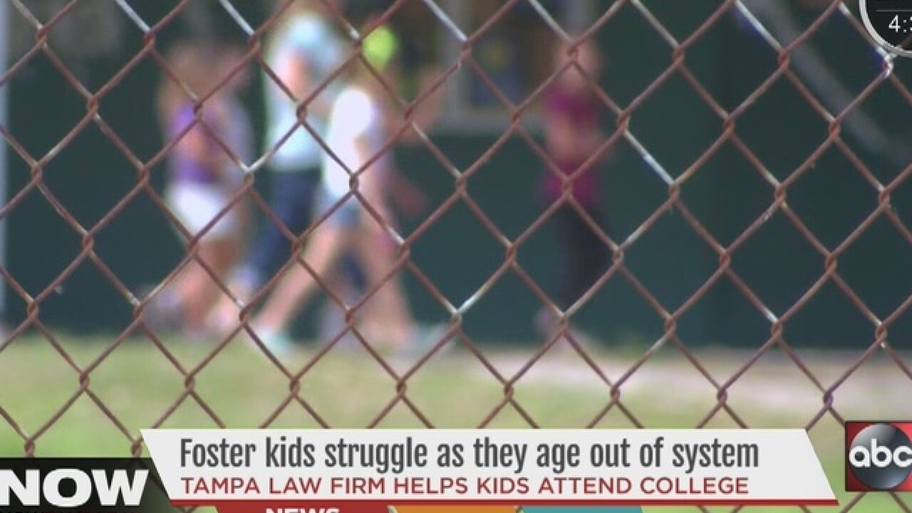 Foster kids struggling as they age out of system