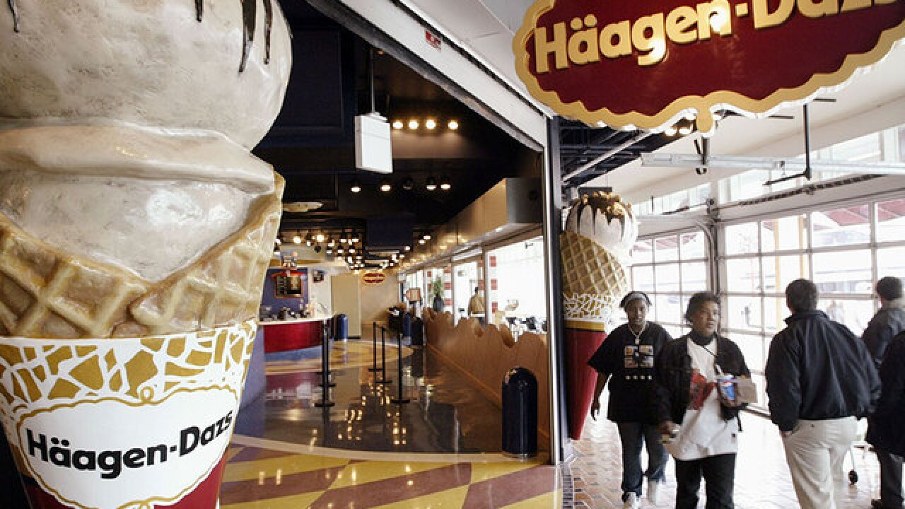 It's Free Cone Day at Haagen Dazs!