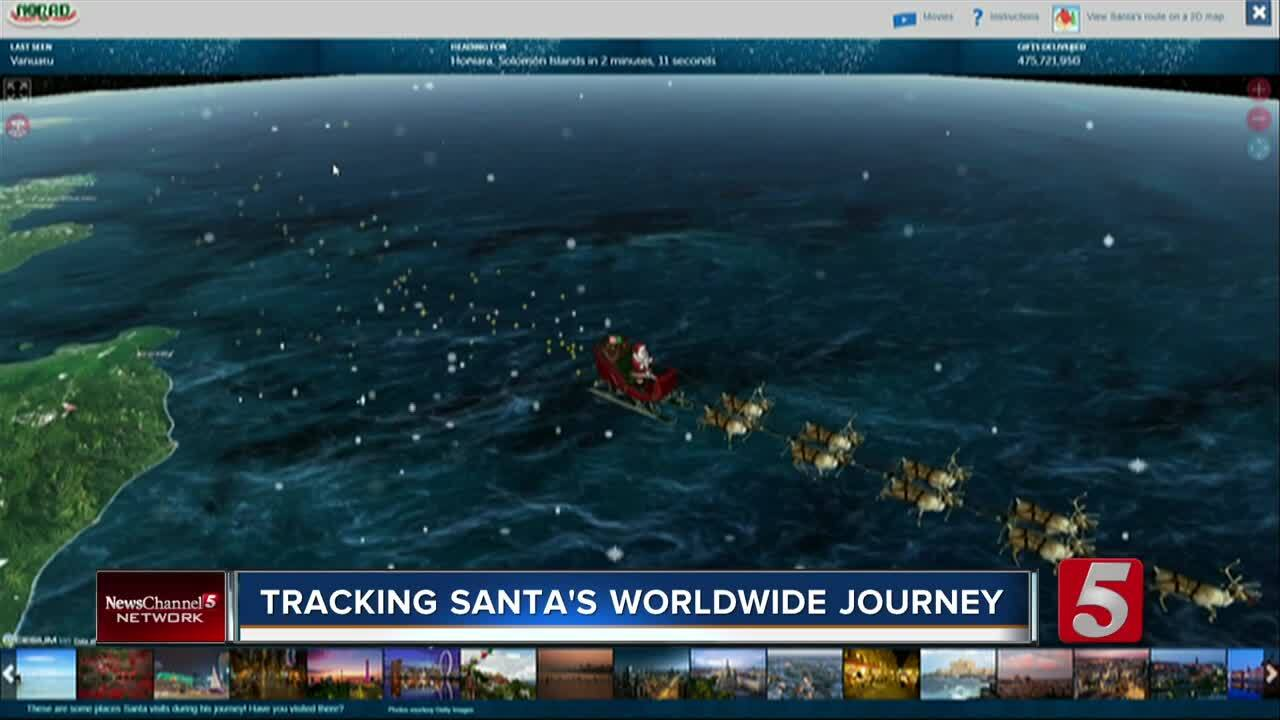 Christmas 2020 Santa Tracker NORAD's Santa Tracker picks up Saint Nick as he departs North Pole
