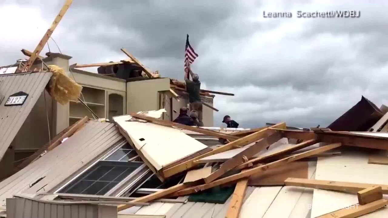 Virginia family finds American flag still flying in tornado wreckage