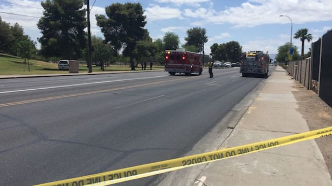 Motorcyclist critically hurt after collision in west Phoenix