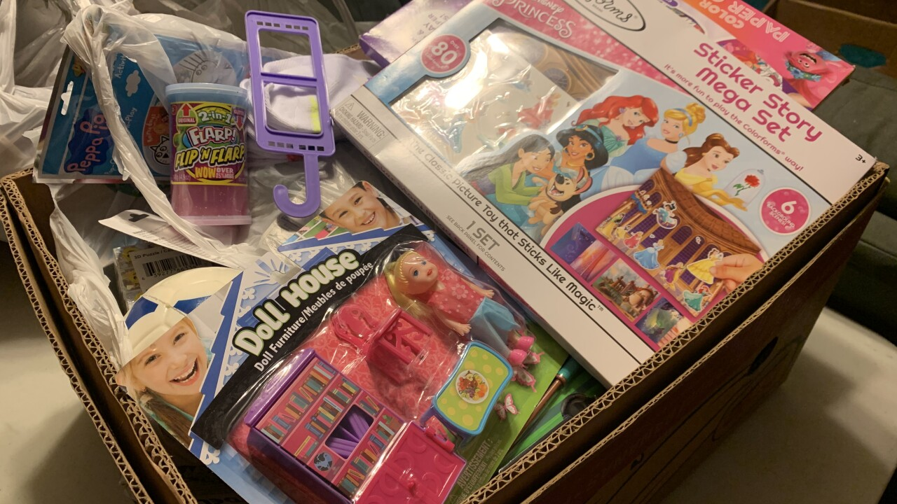These are some of the toys Julie and Jim Danner have been able to collect for children in need this Christmas amid COVID-19
