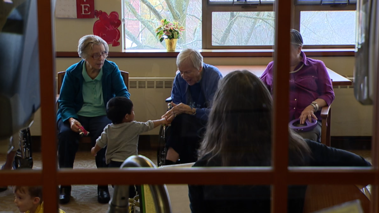 Daycare inside a nursing home? Yes, and it's a big hit in Seattle