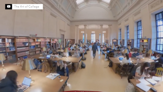 Counselor creates 360-degree college tours for students who can't visit campuses