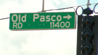 Old Pasco Road sign