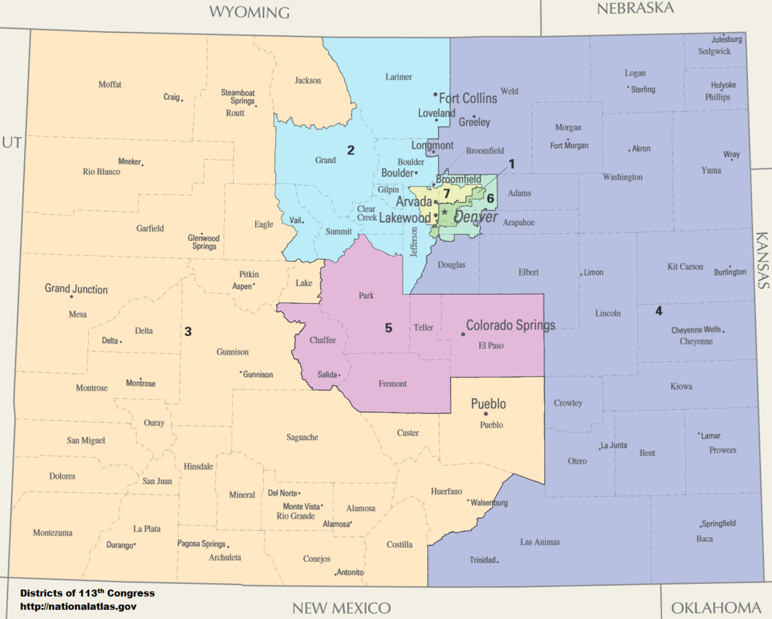 Colorado Congressional_Districts, 113th Congress