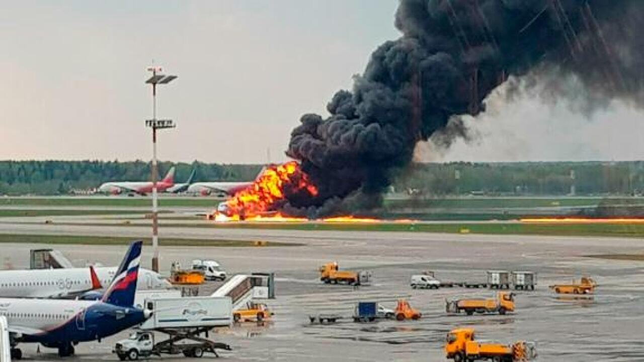 At least 13 dead in Russian passenger plane fire