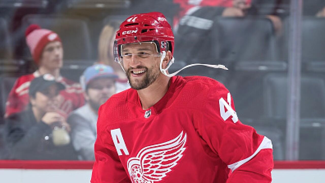 Luke Glendening Red Wings
