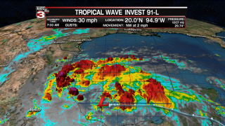 Hurricane Center update on Disturbance 91L in the Gulf of Mexico