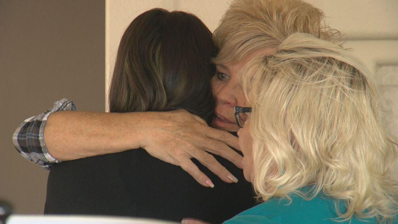 Mikayla hugging Valerie